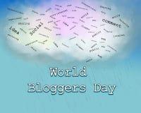 Ημέρα Blogger ελεύθερη απεικόνιση δικαιώματος