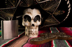 Ημέρα Dead-Dia de Los Muertos Skull Στοκ εικόνα με δικαίωμα ελεύθερης χρήσης