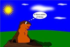 ημέρα goundhogs Στοκ Εικόνες