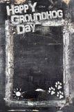 Ημέρα Groundhog πινάκων κιμωλίας Στοκ φωτογραφία με δικαίωμα ελεύθερης χρήσης