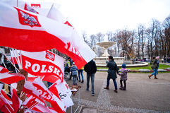 Ημέρα Indepence στην Πολωνία, Βαρσοβία Στοκ Εικόνα