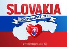 Ημέρα independeance της Σλοβακίας διανυσματική απεικόνιση