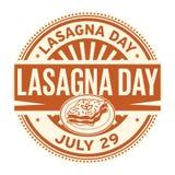 Ημέρα Lasagna, στις 29 Ιουλίου Στοκ Εικόνες