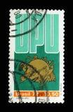 Ημέρα UPU - συμβολίστε, καθολική ταχυδρομική ένωση, 18ο συνέδριο serie, circa το 1979 στοκ εικόνα με δικαίωμα ελεύθερης χρήσης