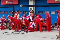 Ημέρες αγώνα Ferrari Στοκ εικόνα με δικαίωμα ελεύθερης χρήσης