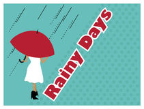 ημέρες βροχερές Στοκ φωτογραφία με δικαίωμα ελεύθερης χρήσης