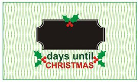 Ημέρες μέχρι τα Χριστούγεννα Στοκ φωτογραφίες με δικαίωμα ελεύθερης χρήσης