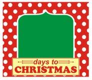 Ημέρες μέχρι τα Χριστούγεννα Στοκ Φωτογραφία