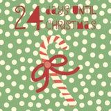 24 ημέρες μέχρι τη διανυσματική απεικόνιση Χριστουγέννων christmas countdown απεικόνιση αποθεμάτων