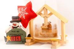 5 ημέρες στα Χριστούγεννα Στοκ Εικόνες