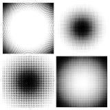 Ημίτοά μαύρα υπόβαθρα σημείων καθορισμένα διανυσματική απεικόνιση