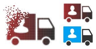 Ημίτοή μεταφορά επιβατών εικονοκυττάρου διάλυσης Van Icon απεικόνιση αποθεμάτων
