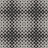 Ημίτονο άνευ ραφής σχέδιο με τους κύκλους, που διασχίζουν τις μορφές παραίσθηση ανασκόπησης ο&p Καθιερώνον τη μόδα σχέδιο Στοκ φωτογραφία με δικαίωμα ελεύθερης χρήσης