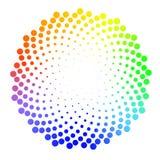 Ημίτονο διαστιγμένο ζωηρόχρωμο υπόβαθρο διανεμημένο κυκλικά μισός ελεύθερη απεικόνιση δικαιώματος