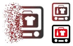 Ημίτονο εικονίδιο διαλογής ακτίνας X αποσκευών εικονοκυττάρου Destructed απεικόνιση αποθεμάτων