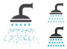 Ημίτονο εικονίδιο ντους Pixelated σκόνης απεικόνιση αποθεμάτων