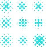 Ημίτονο στοιχείο κυττάρων κύκλων σχεδίου. Στοκ Εικόνες