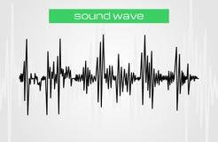 Ημίτονο στοιχείο σχεδίου μουσικής υγιών κυμάτων σύγχρονο Στοκ Εικόνες