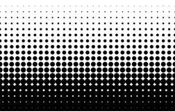 Ημίτονο σχέδιο Κωμικό υπόβαθρο Διαστιγμένο αναδρομικό σκηνικό με τους κύκλους, σημεία μαύρο λευκό Στοκ Εικόνα