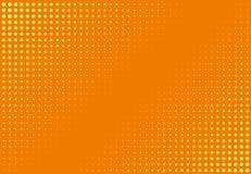 Ημίτονο σχέδιο Κωμικό υπόβαθρο Διαστιγμένο αναδρομικό σκηνικό με τους κύκλους, σημεία Στοκ Εικόνα