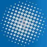Ημίτονο υπόβαθρο κύκλων, ημίτονο σχέδιο σημείων Στοκ Εικόνες
