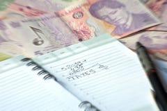 Ημερήσια διάταξη γραφείων των φορολογικών υπολογισμών στοκ εικόνα με δικαίωμα ελεύθερης χρήσης