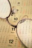 ημερολογιακά γυαλιά Στοκ εικόνες με δικαίωμα ελεύθερης χρήσης