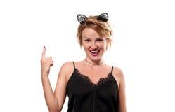 ημερολογιακής έννοιας ημερομηνίας ο απαίσιος μικροσκοπικός θεριστής εκμετάλλευσης αποκριών ευτυχής λέει τη στάση δρεπανιών Γυναίκ Στοκ εικόνα με δικαίωμα ελεύθερης χρήσης
