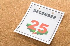 ημερολογιακή ημέρα των Χριστουγέννων Στοκ φωτογραφίες με δικαίωμα ελεύθερης χρήσης