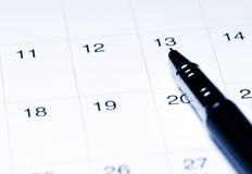 ημερολογιακή πέννα Στοκ εικόνες με δικαίωμα ελεύθερης χρήσης