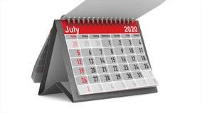 Ημερολογιακό 2020 έτος r απόθεμα βίντεο
