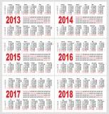 Ημερολογιακό δίκτυο, σύνολο Στοκ εικόνες με δικαίωμα ελεύθερης χρήσης