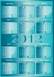 ημερολογιακό διάνυσμα του 2012 ελεύθερη απεικόνιση δικαιώματος