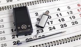ημερολογιακό κινητό τηλέ&phi Στοκ Εικόνες