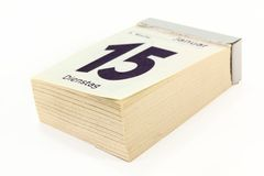 ημερολογιακό μαξιλάρι Στοκ φωτογραφία με δικαίωμα ελεύθερης χρήσης