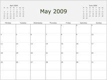 ημερολογιακό μηνιαίο έτο Στοκ Εικόνες