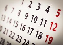 Ημερολογιακό πρότυπο διοργανωτών, σκηνικό Στοκ Φωτογραφίες