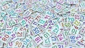 Ημερολογιακό φύλλο με την ημερομηνία στις 12 Μαρτίου, τρισδιάστατη ζωτ φιλμ μικρού μήκους
