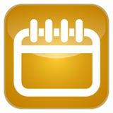 Ημερολογιακό app εικονίδιο Στοκ Εικόνα