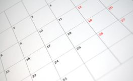 ημερολόγιο απλό στοκ εικόνα