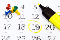 Ημερολόγιο γραφείων Στοκ φωτογραφίες με δικαίωμα ελεύθερης χρήσης
