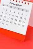 ημερολόγιο Δεκέμβριος στοκ φωτογραφίες