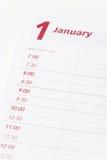 ημερολόγιο ημερήσιων δι&alp Στοκ εικόνες με δικαίωμα ελεύθερης χρήσης