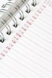 ημερολόγιο ημερήσιων διατάξεων Στοκ εικόνα με δικαίωμα ελεύθερης χρήσης