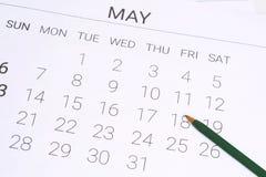 Ημερολόγιο Μαΐου με τη μάνδρα Στοκ εικόνες με δικαίωμα ελεύθερης χρήσης