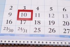 Ημερολόγιο με το κύτταρο Στοκ φωτογραφίες με δικαίωμα ελεύθερης χρήσης
