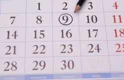 Ημερολόγιο με το μολύβι για τις σημειώσεις Στοκ φωτογραφία με δικαίωμα ελεύθερης χρήσης