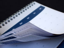 ημερολόγιο που κοιτάζε Στοκ Φωτογραφία