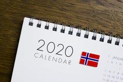 Ημερολόγιο σημαιών της Νορβηγίας το 2020 στοκ εικόνες με δικαίωμα ελεύθερης χρήσης