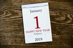 Ημερολόγιο στο ξύλινο υπόβαθρο στοκ εικόνα με δικαίωμα ελεύθερης χρήσης